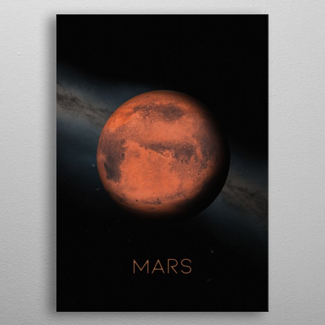 Fourth Planet of The Solar System metal poster