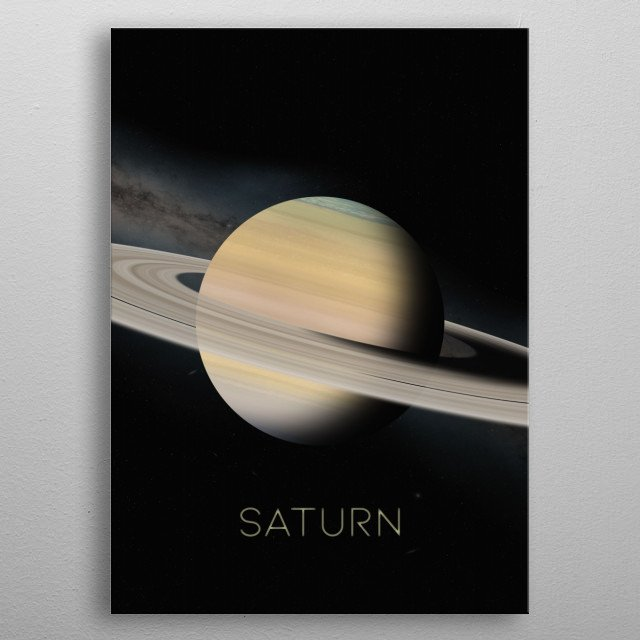 Sixth Planet of The Solar System metal poster