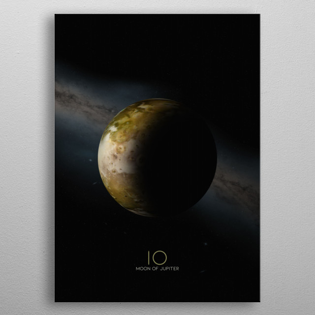 Io, a Moon of Jupiter metal poster