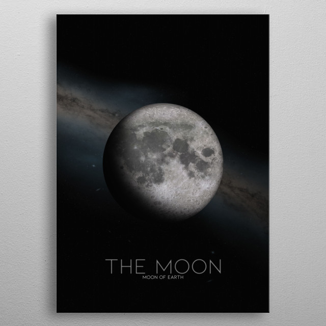 The Moon also known as Luna metal poster