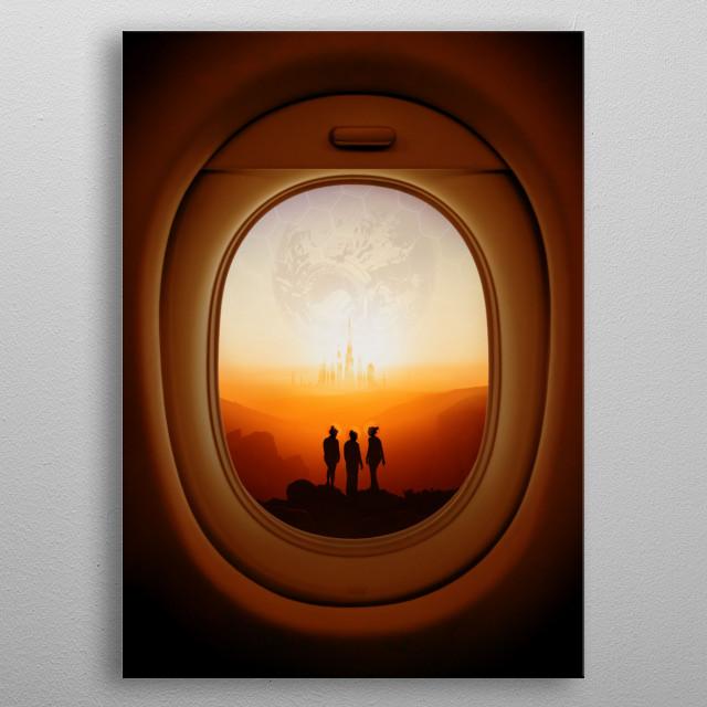 Mars on your window metal poster