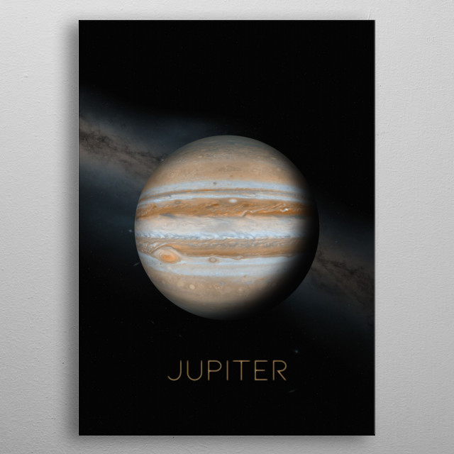 Fifth Planet of The Solar System metal poster