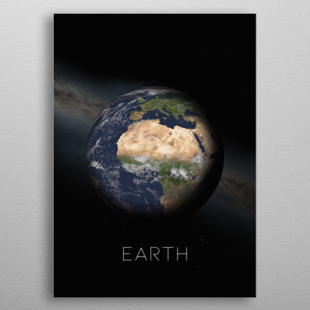 Third Planet of The Solar System metal poster