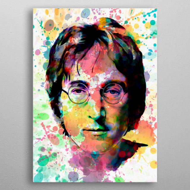 Art inspired by the life and work of John Lennon metal poster