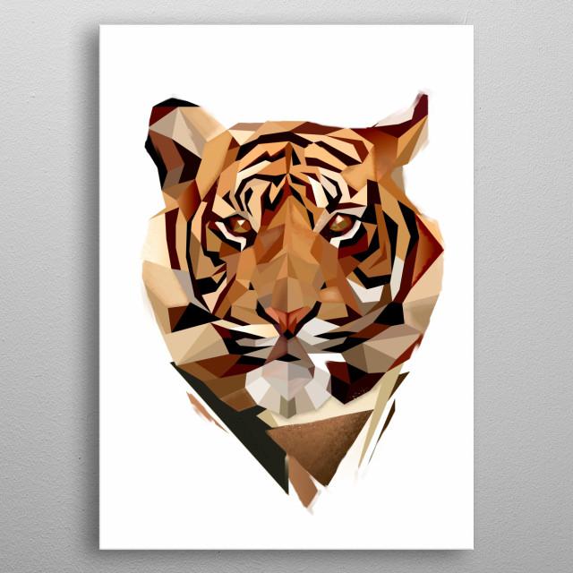 Modern tiger head metal poster