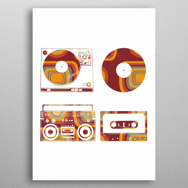 High-quality metal print from amazing Retro Music collection will bring unique style to your space and will show off your personality. metal poster