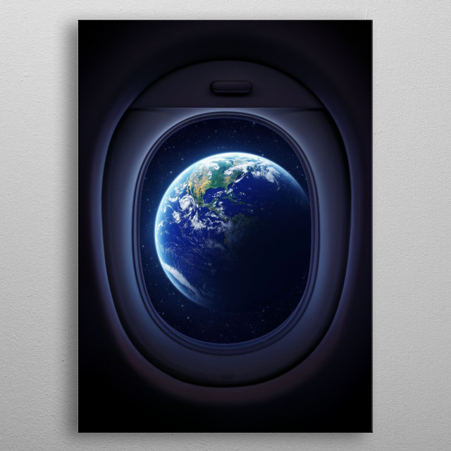 Earth on your window metal poster