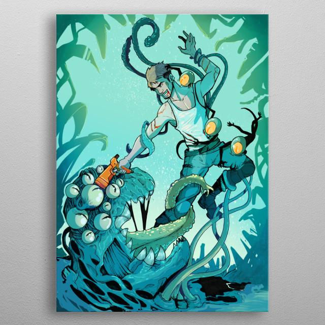 Intergalactic Pest Control metal poster