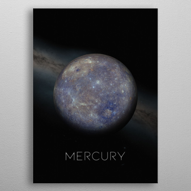 First Planet of The Solar System metal poster