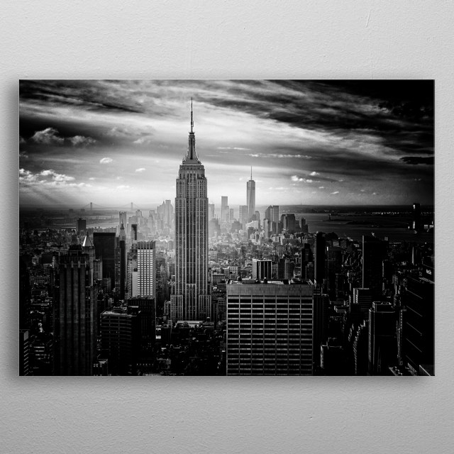 city darkness  metal poster