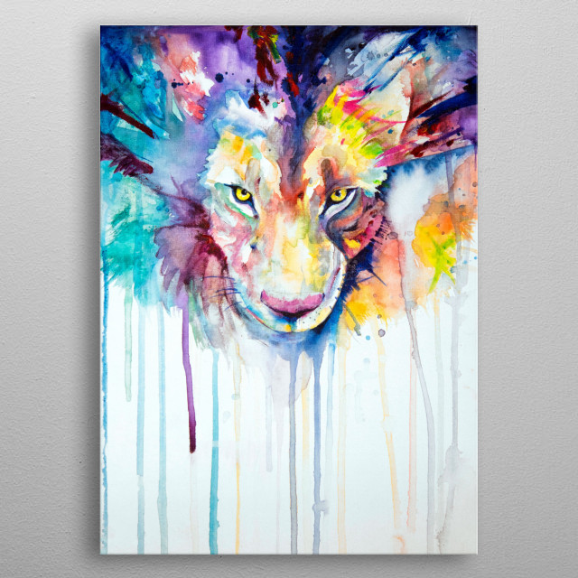 High-quality metal print from amazing Marc Allante Art collection will bring unique style to your space and will show off your personality. metal poster