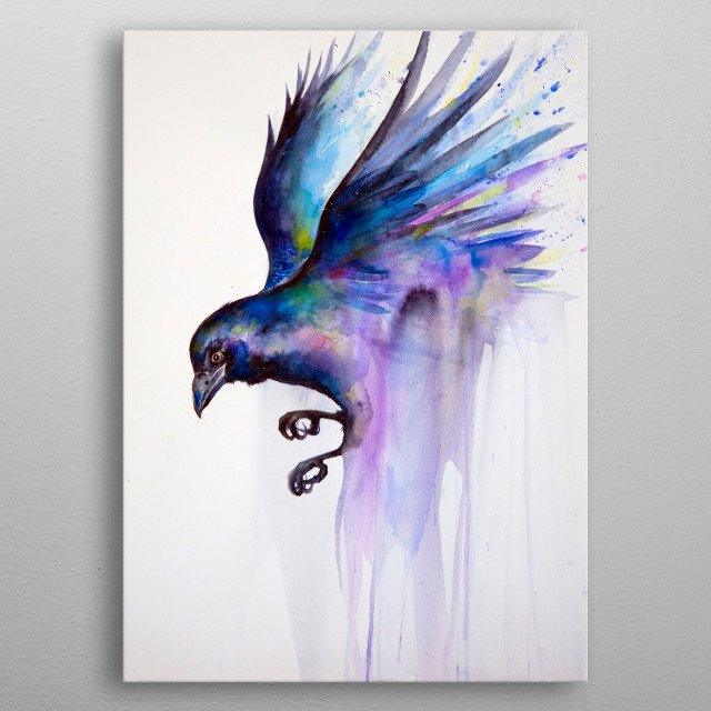 Nevermore  metal poster