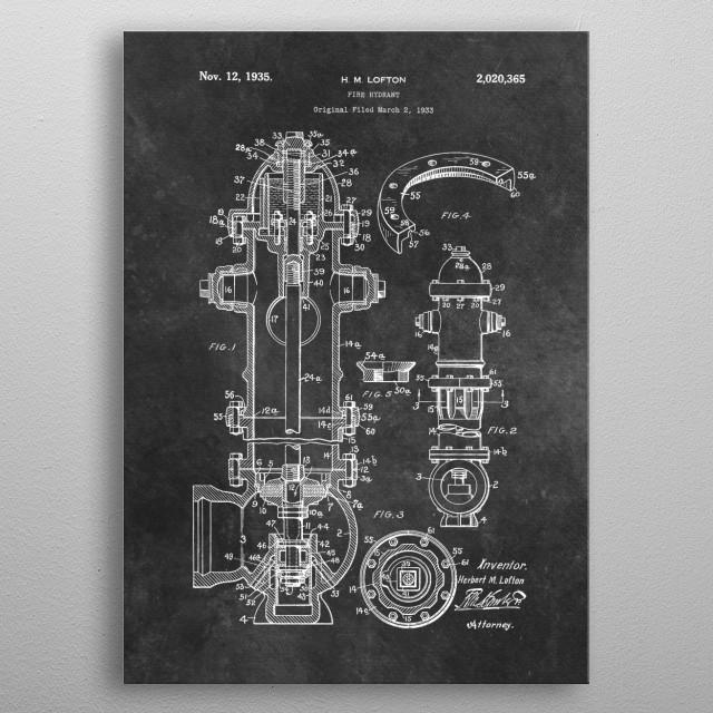 Lofton Fire hydrant 1933 metal poster