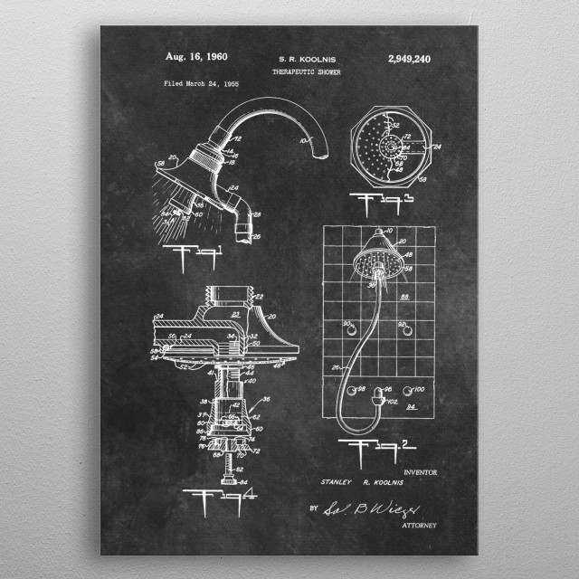 Koolnis Therapeutic shower 1960 metal poster