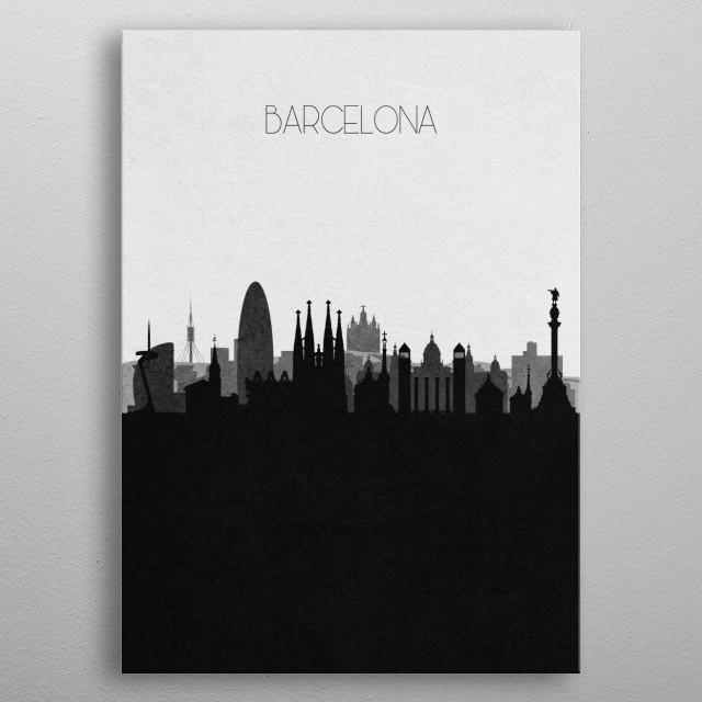 Destination: Barcelona metal poster
