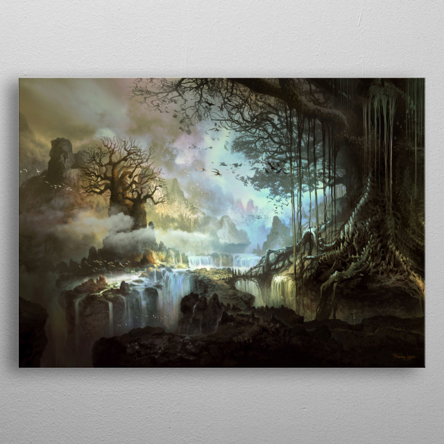 Fascinating metal poster designed by Ferdinand Ladera. Displate has a unique signature and hologram on the back to add authenticity to each design. metal poster
