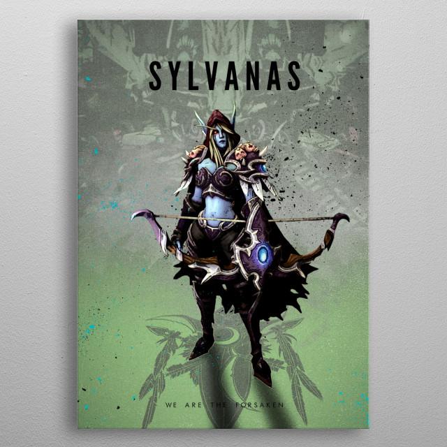 Elf Girl metal poster