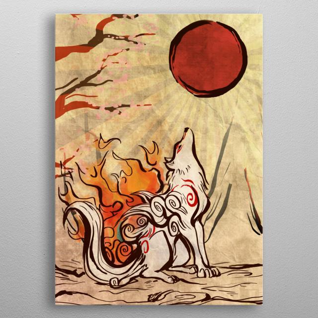 Okami Artwork  metal poster