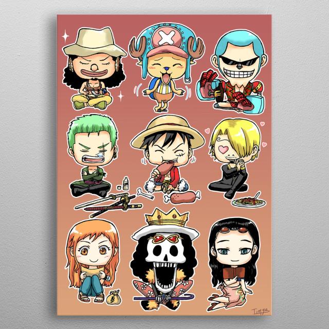 One Piece Chibis metal poster