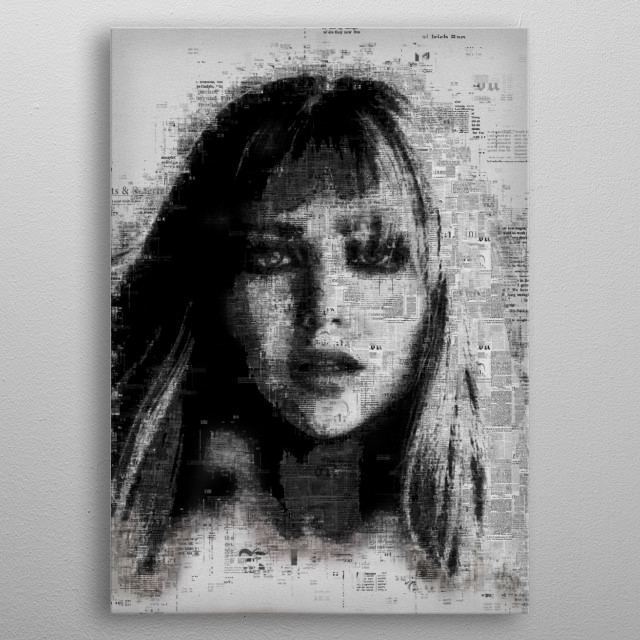 Jennifer Lawrence  metal poster