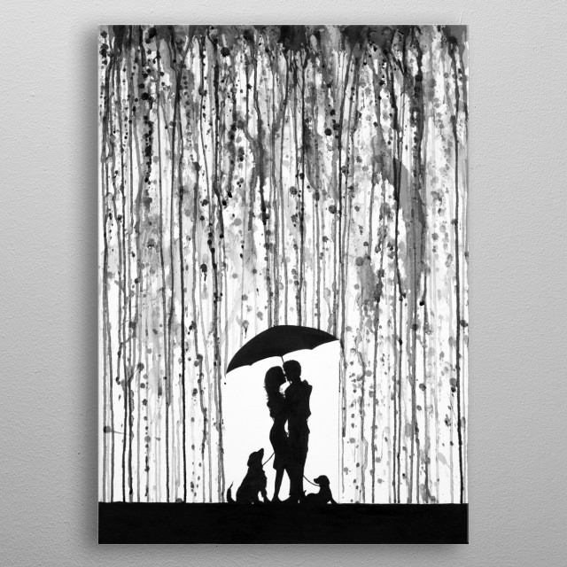 Entwined B&W metal poster