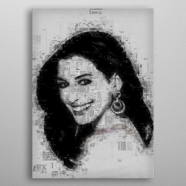 Anne Hathaway metal poster