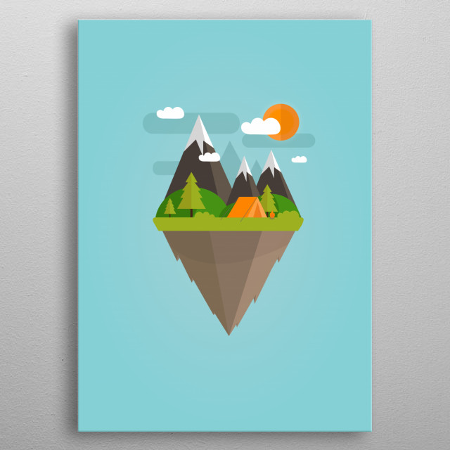 High-quality metal print from amazing Flat Nature collection will bring unique style to your space and will show off your personality. metal poster