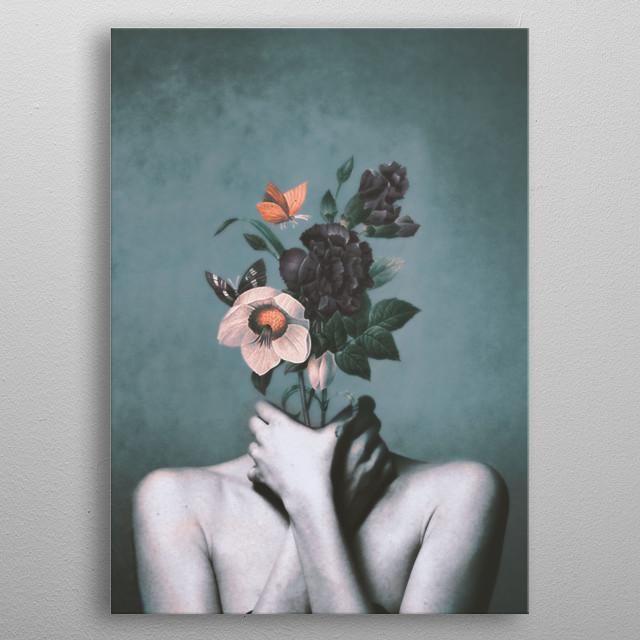 inner garden 3 metal poster