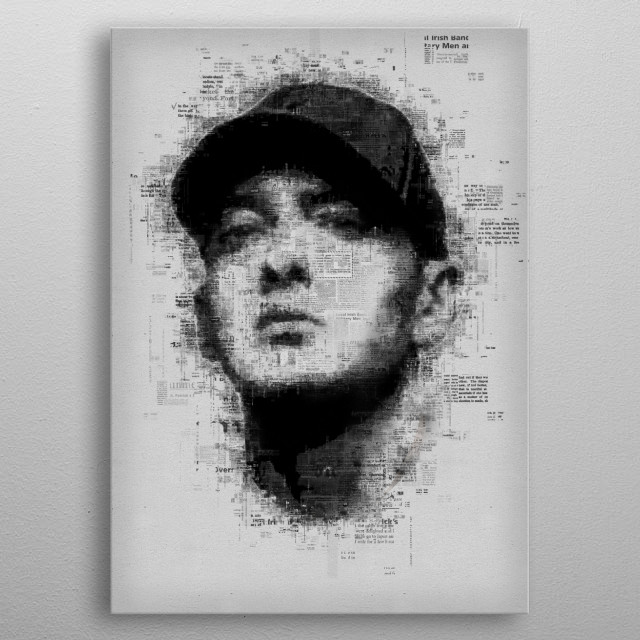 Eminem  metal poster