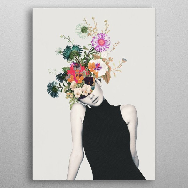 Floral beauty metal poster