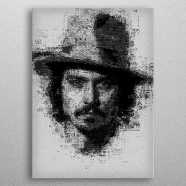 High-quality metal print from amazing Newspaper Art collection will bring unique style to your space and will show off your personality. metal poster