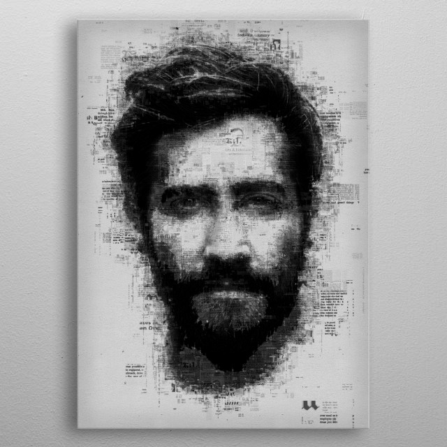 Jake Gyllenhaal metal poster