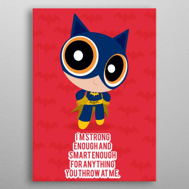 Power batgirl metal poster