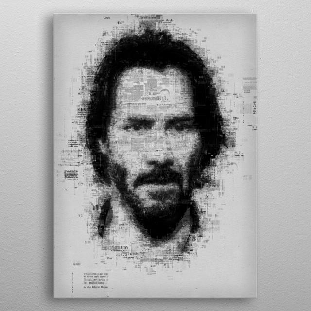 Keanu Reeves  metal poster