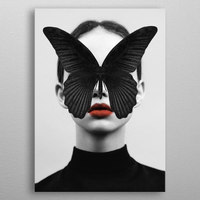 BLACK BUTTERFLY metal poster