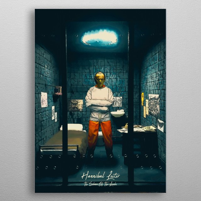 Hannibal Lecter - The silence Of The Lambs metal poster