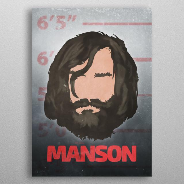 Manson - Mugshot metal poster