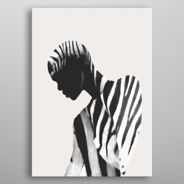 Zebra ,Abstract metal poster