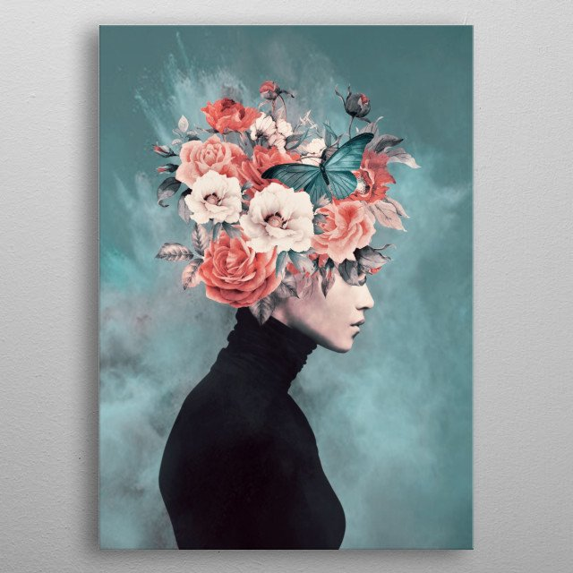 Abstract, metal poster