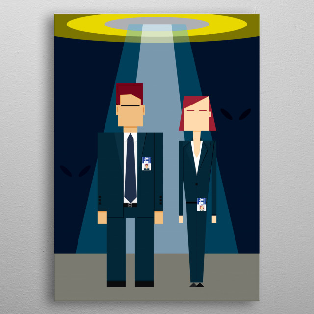 Mulder & Skully metal poster