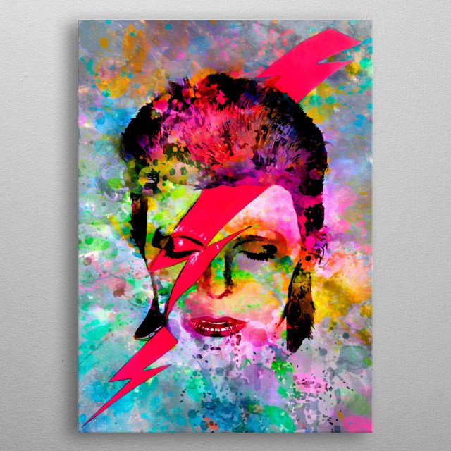 Art inspired by the life and work of David Bowie metal poster