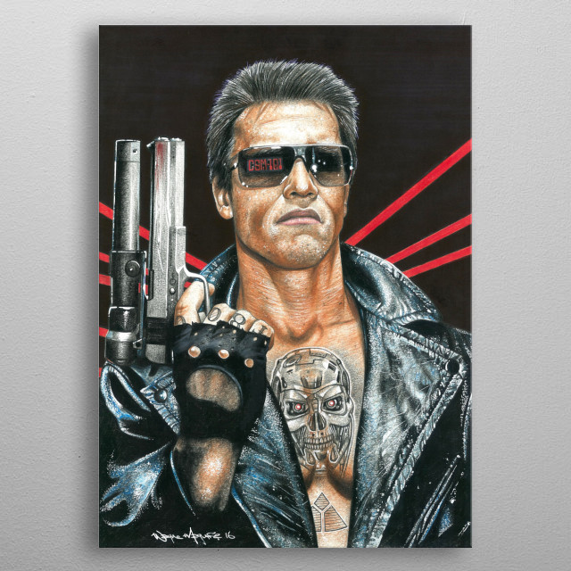 This marvelous metal poster designed by inkedikons to add authenticity to your place. Display your passion to the whole world. metal poster
