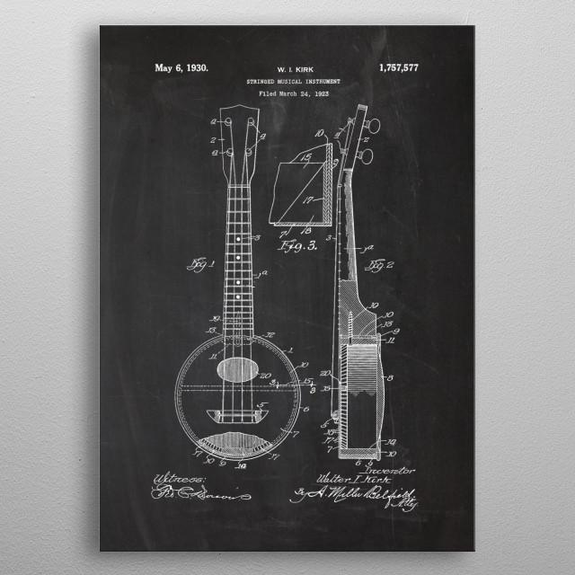 Stringed Musical Instrumen metal poster