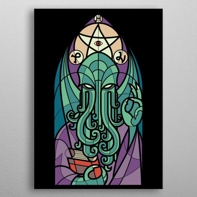 cthulhu church metal poster