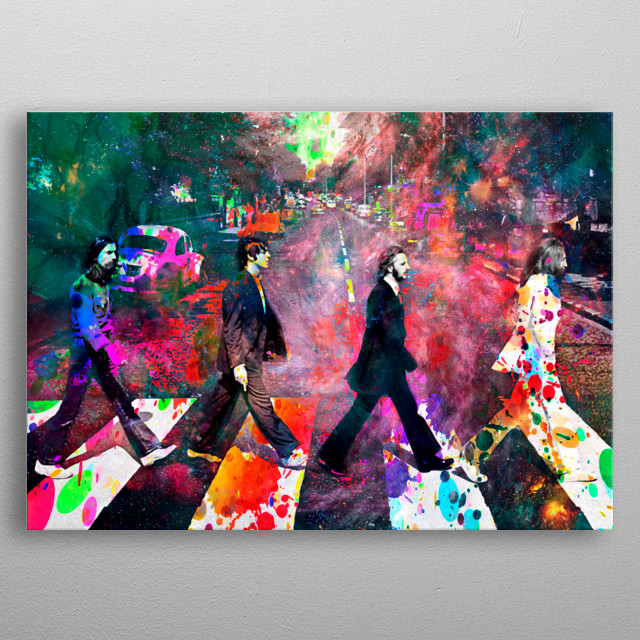 Art inspired by the life and work of The Beatles metal poster