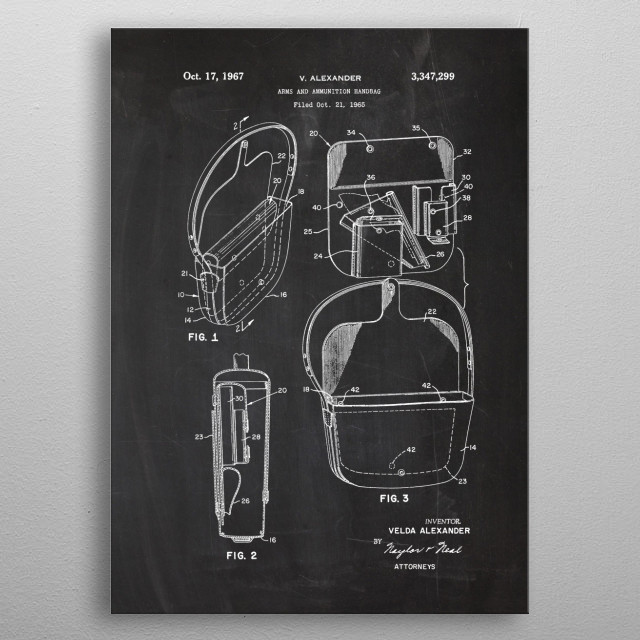 Arms and Ammunition Bag metal poster