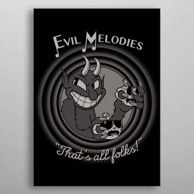 Evil Melodies metal poster