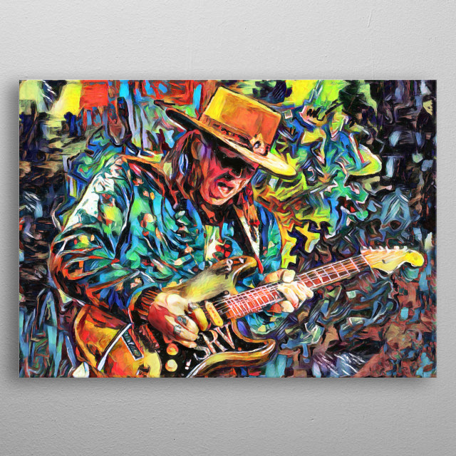 SHE'S MY PRIDE AND JOY!!!  I created this Stevie Ray Vaughan Art with a mixed-medium process. Painted with many different stroke styles to reflect the feeling of the subject metal poster