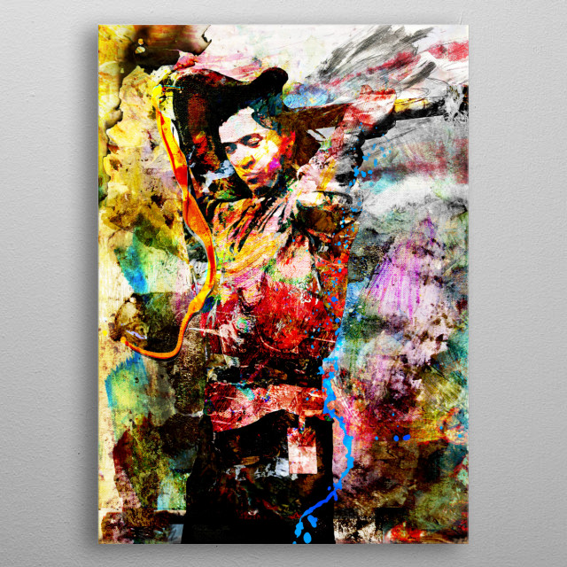 THE SKY IS CRYING!!!  I created this Stevie Ray Vaughan Art with a mixed-medium process. Painted with many different stroke styles to reflect the feeling of the subject metal poster