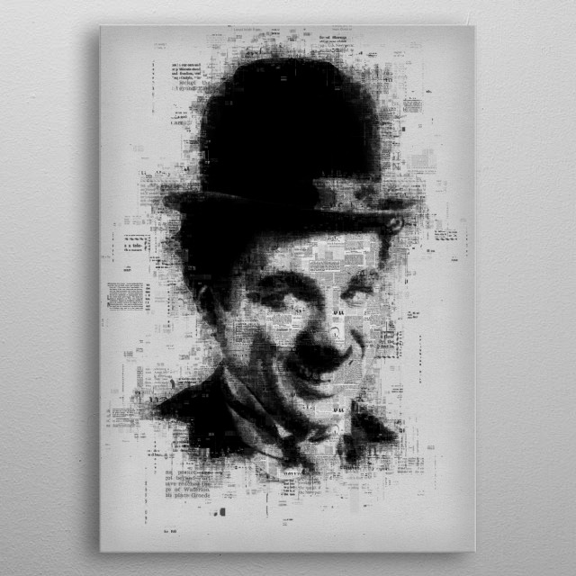 Charlie Chaplin  metal poster